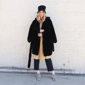 Acne Jackets & Coats - Acne Studios Faux Fur Hooded Oversized Coat